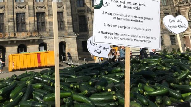 7000 'afgekeurde' courgettes op de Dam