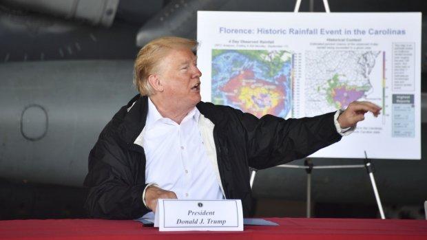 Trump belooft '100 procent' steun aan getroffen staten