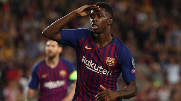 Broer Nouri eregast Dembélé in Camp Nou