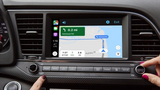 Google Maps is er nu ook voor Apple CarPlay
