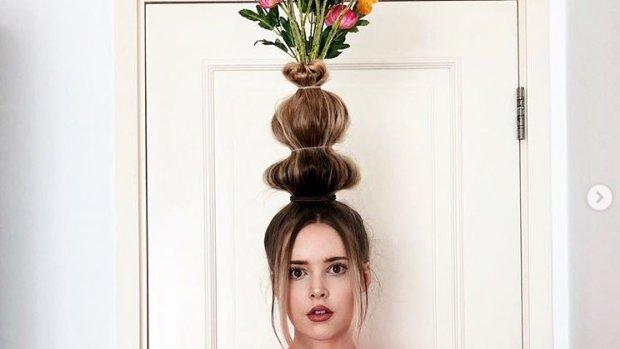 Bloemenvaas is de nieuwe haartrend