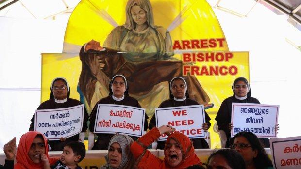 Indiase bisschop verdacht van meermalen verkrachten van non