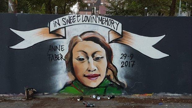 Graffitikunst als eerbetoon aan Anne Faber