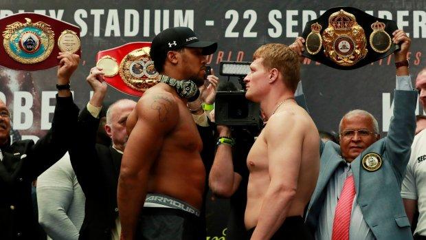 Wereldtitel clash met Joshua vs Povetkin