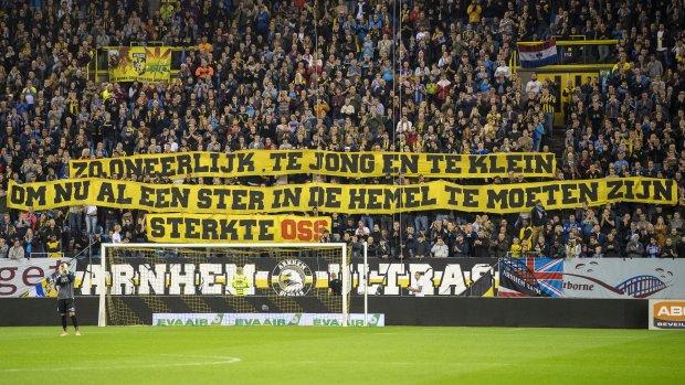 Ook eerbetoon bij Vitesse - ADO vanwege drama Oss