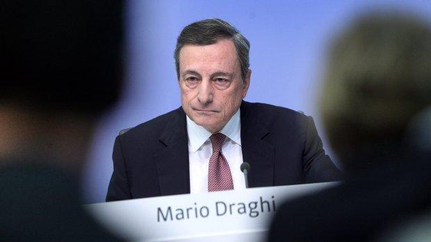Draghi: eurozone krijgt grote klap door handelsoorlog