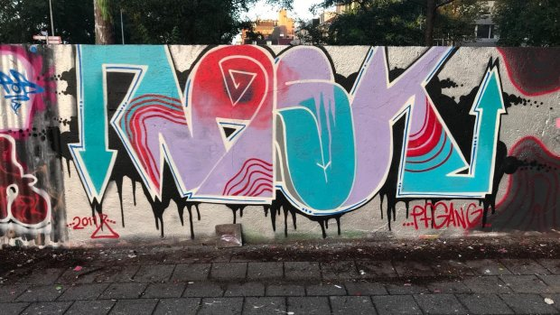 Graffiti-eerbetoon aan Anne Faber na vier dagen overgespoten