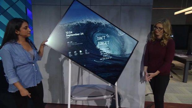Microsoft toont draaiend Surface Hub-scherm voor kantoor