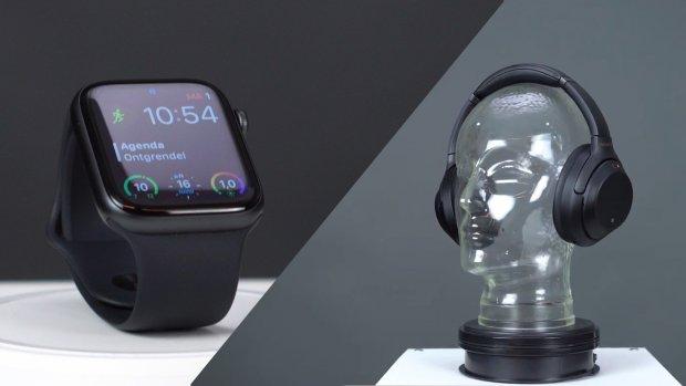 Met stip in onze koopgids: Apple Watch 4 en Sony 1000XM3