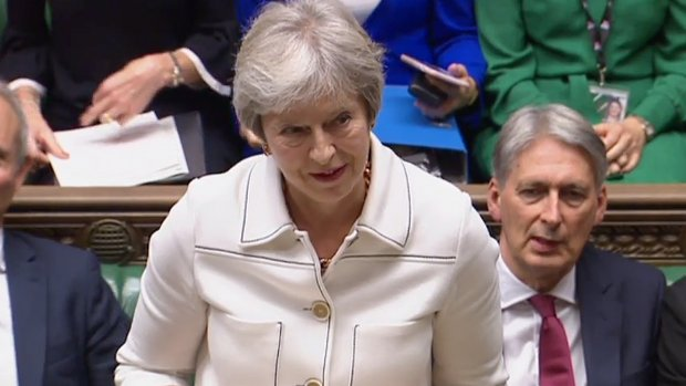 May in Brits parlement: Ierse grens mag niet leiden tot 'no deal'