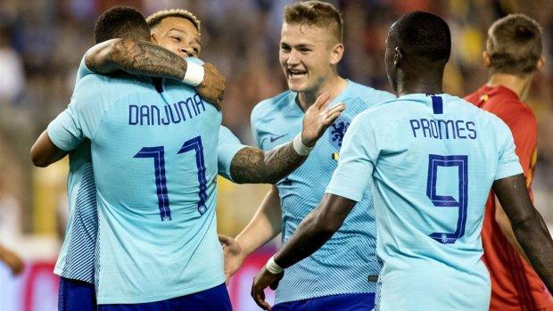 Nederland en België gelijk in vriendschappelijke wedstrijd