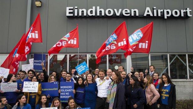 Eindhovens cabinepersoneel Ryanair legt morgen het werk neer