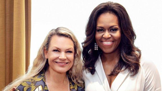 Backstage kiekjes bij Michelle Obama en LINDA.