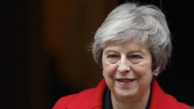 Persconferentie Theresa May, na reeks opgestapte partijgenoten