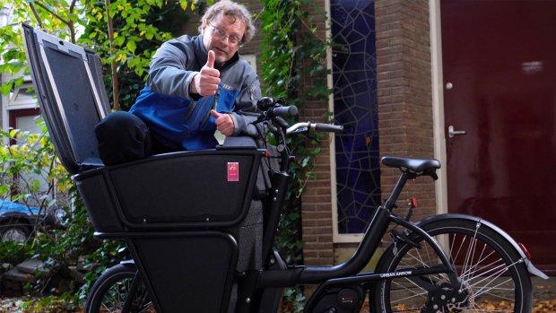 Getest: deze elektrische bakfiets is erg wendbaar