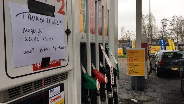 Tekort bij tankstations door lage waterpeil Rijn