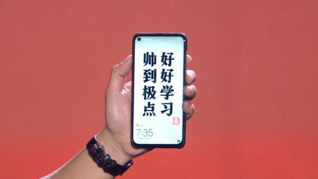 Huawei-telefoon heeft camera in gat in het scherm