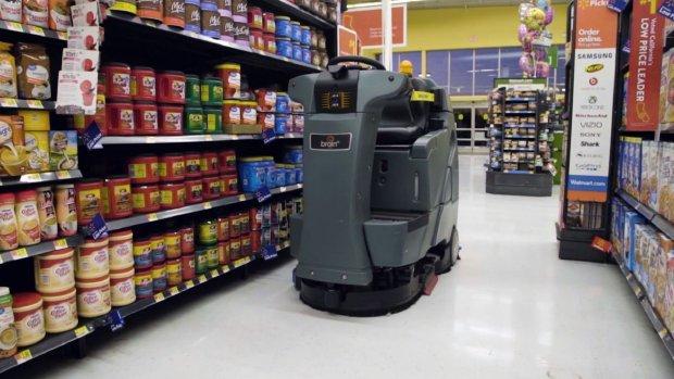 Schoonmaakrobots aan de slag in supermarkten VS