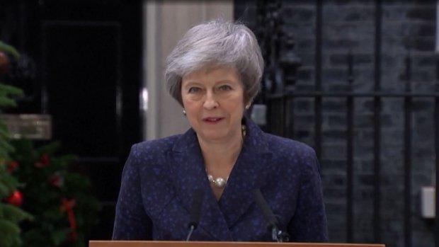 Britse premier Theresa May vastberaden: 'Ik ga door'