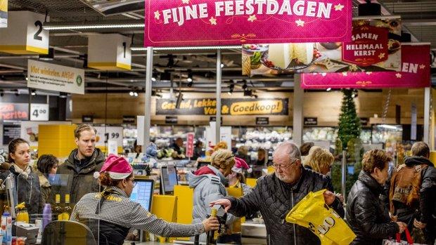 Supermarkten verwachten record kerstomzet