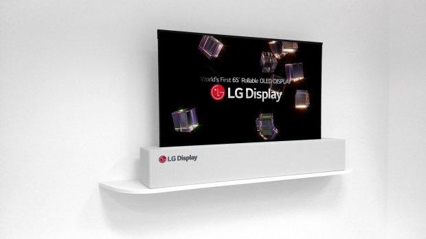 'LG brengt oprolbare tv op de markt in 2019'
