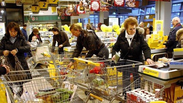 Extreme kerstdrukte verwacht in de supermarkt dit weekend