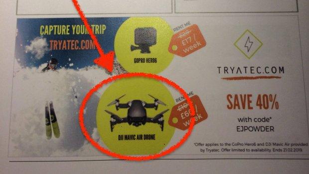 EasyJet verwijdert drone-reclame van instapkaarten Gatwick