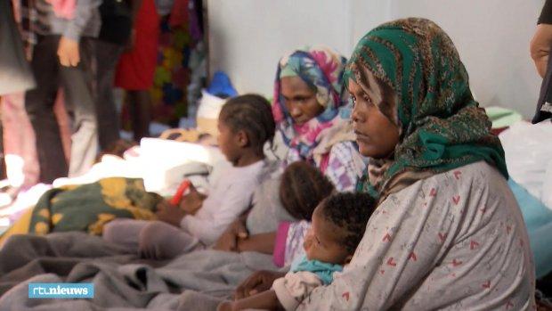 Detentiecentra in Libië zijn onmenselijk: 'We zitten opgesloten in één ruimte'