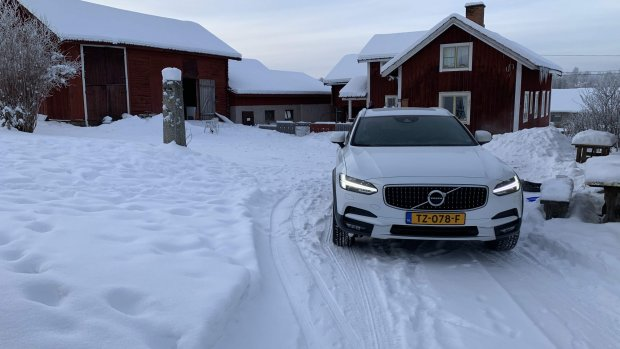 Duurtest Volvo V90 Cross Country: de sneeuw in