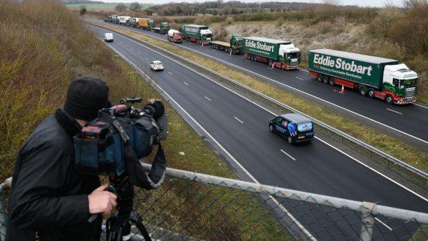 Oefening brexitfile met 89 vrachtwagens 'verspilling van tijd'