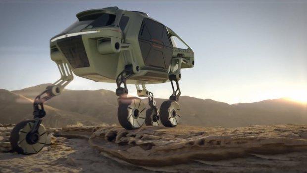 De nieuwe conceptauto van Hyundai kan lopen