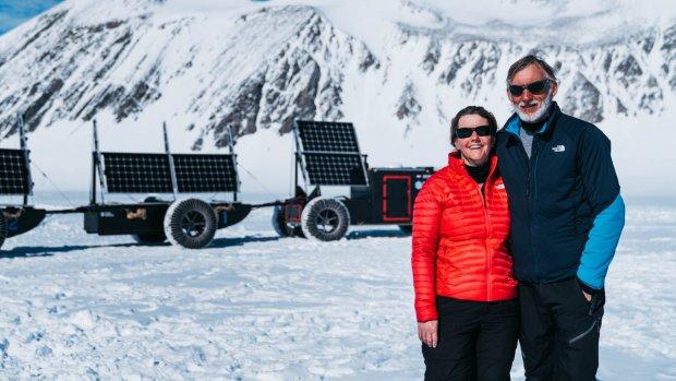 Zuidpool niet gehaald, tocht met afvalplasticauto wel succesvol