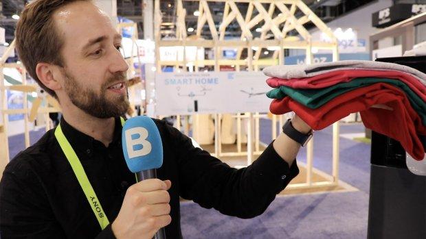 Hij werkt: de machine die je kleren vouwt