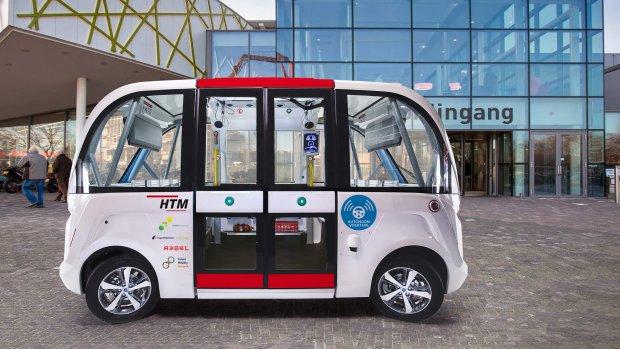 Zelfrijdende minibus gaat rijden in Den Haag