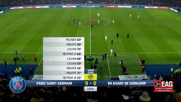 Gouden trio leidt PSG naar oppermachtige 9-0 overwinning