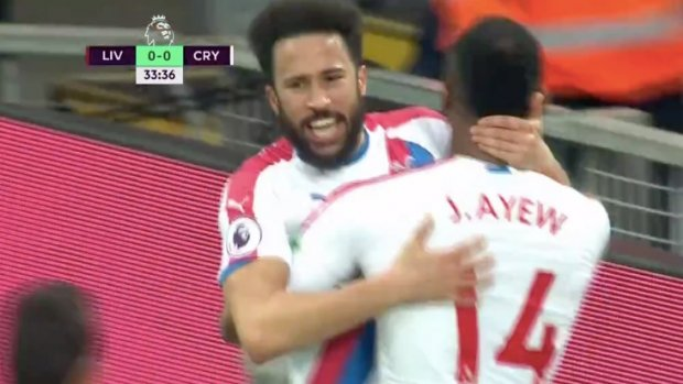 Andros Townsend scoort op Anfield!