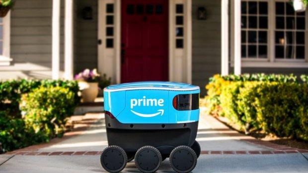 Amazon zet rijdende robot in bij bezorging