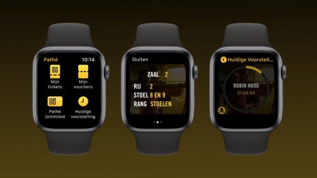 Apple Watch-app Pathé toont hoe lang de film nog duurt