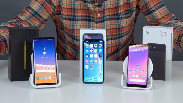 De drie beste smartphones boven de 600 euro
