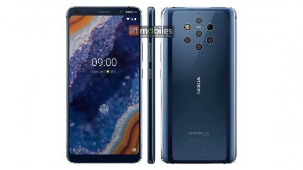 'Nokia komt met telefoon met 5 camera's achterop'