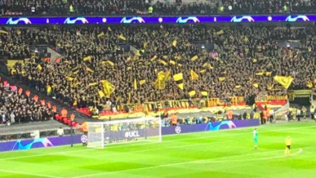 De supporters van Borussia Dortmund waren de baas op Wembley