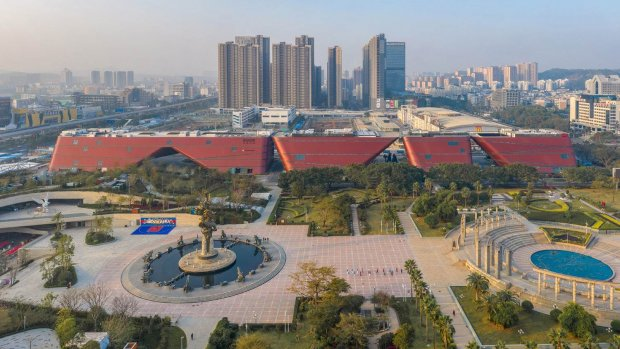 Architectuur: Mecanoo's grote rode kolos in China