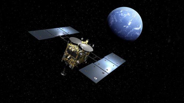 Japanse sonde haalt materiaal op van asteroïde