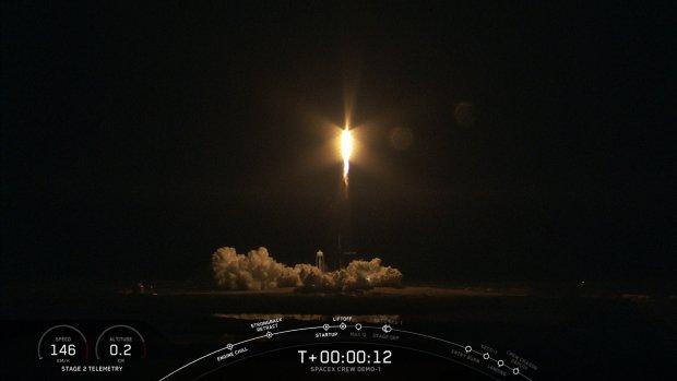 Ruimteschip SpaceX gelanceerd, onderweg naar ISS