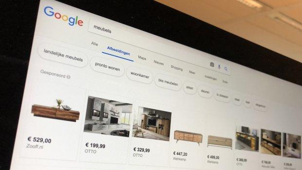 Google test foto's met advertenties in Image Search