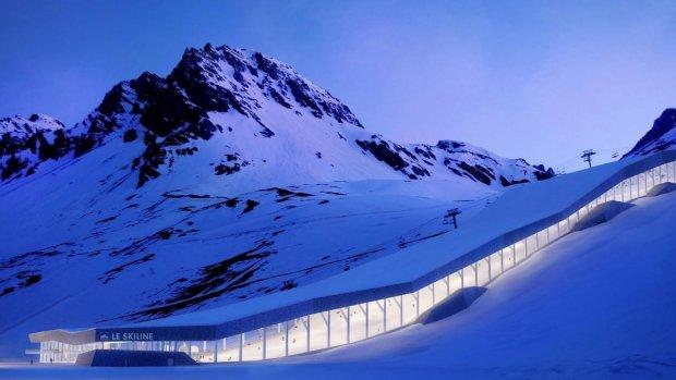 Dutch design: overdekte skibaan in de Alpen