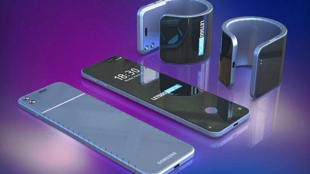 Samsung werkt aan smartphone die om je pols vouwt