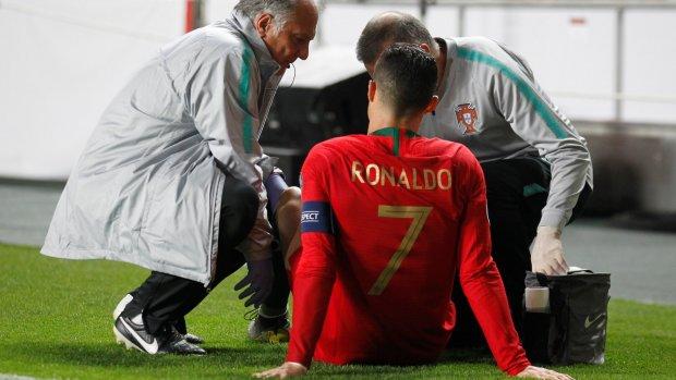 Ronaldo valt uit met hamstringblessure