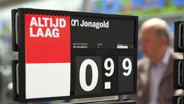 Supermarkten verhogen veel prijzen om ze te laten eindigen op 9