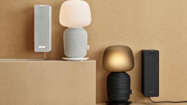Ikea's eerste Sonos-speakers zijn ook tafellamp en boekenplank